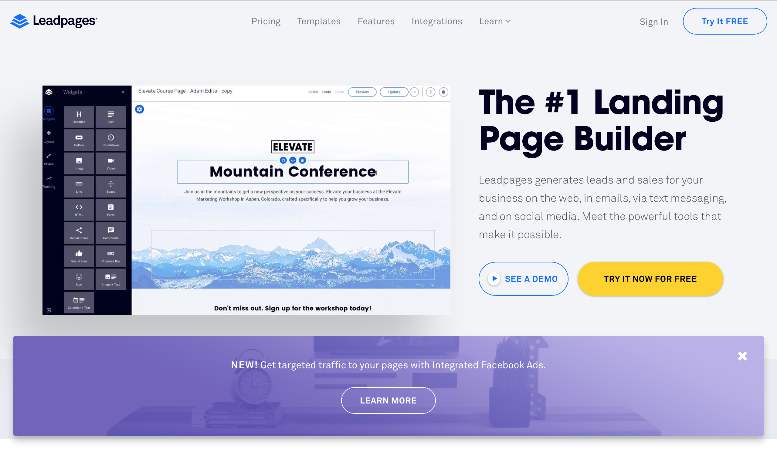LeadPages Landing Page 製作工具