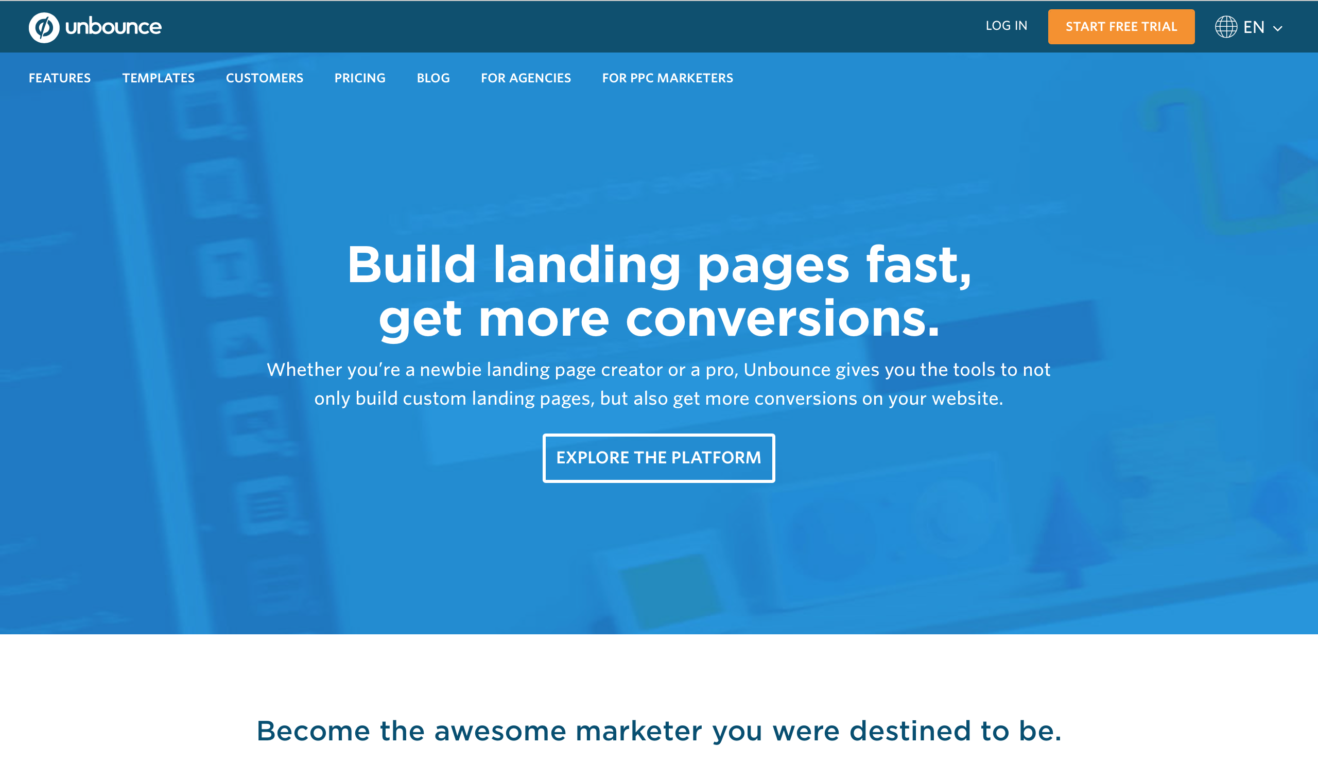 Unbounce Landing Page 製作工具